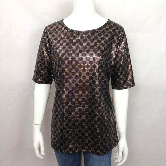 f1162a5300d2a New Lularoe Gigi Elegant Collection Metallic Shirt